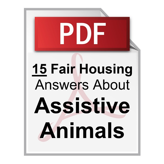 Product 15 Fair Housing Questions and Answers About Assistive Animals