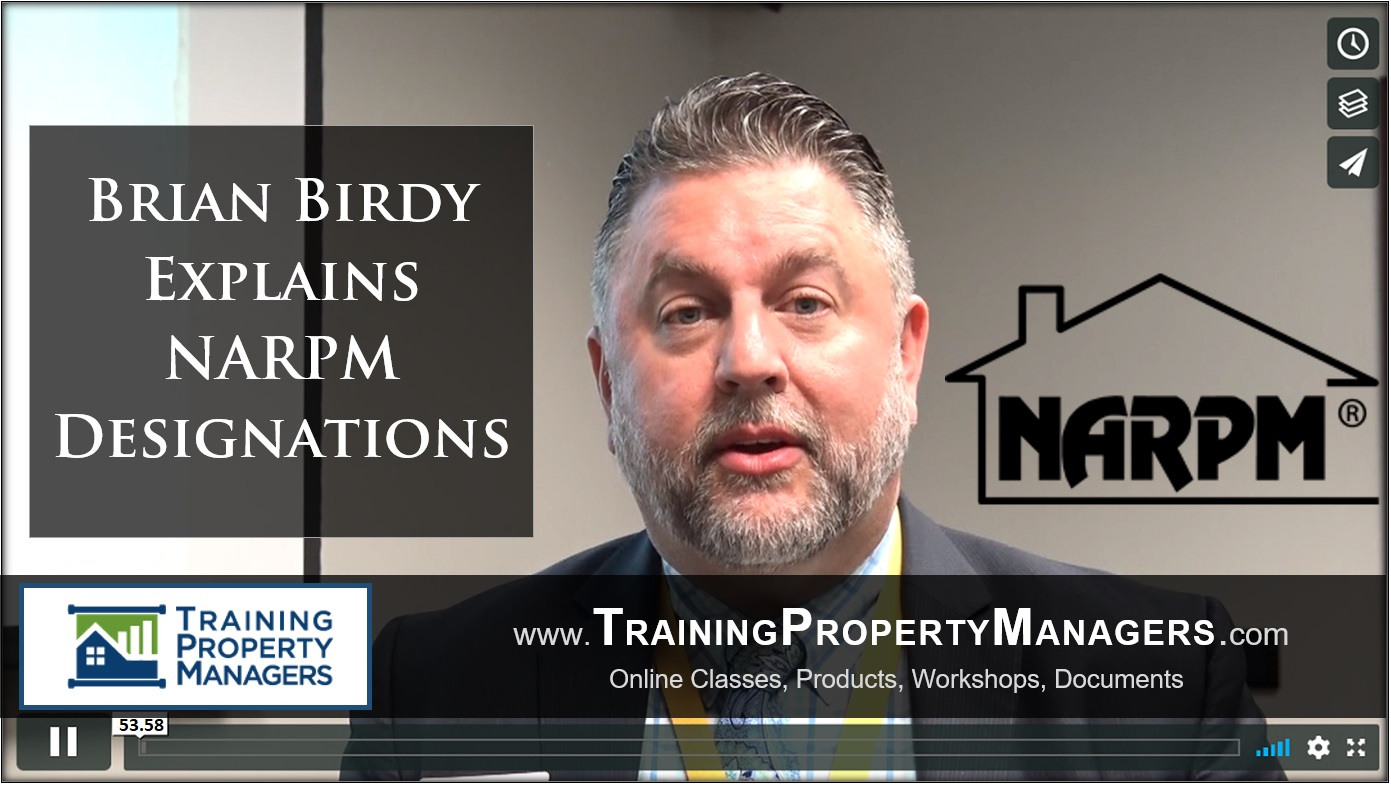 NARPM Designations Explained by Brian Birdy - Property