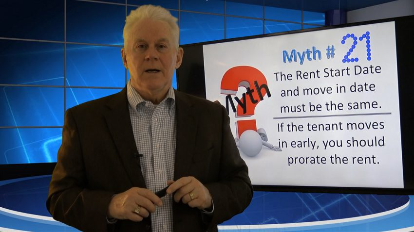 Myth 21 The Rent Start Date and Move In Date MUST be the Same RIGHT