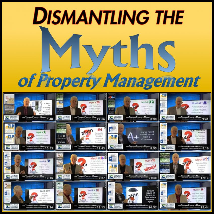 Dismantling the Myths of Property Management by Training Property Managers Robert Locke Crown