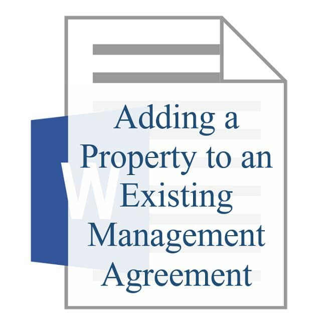 Adding a Property to an Existing Management Agreement