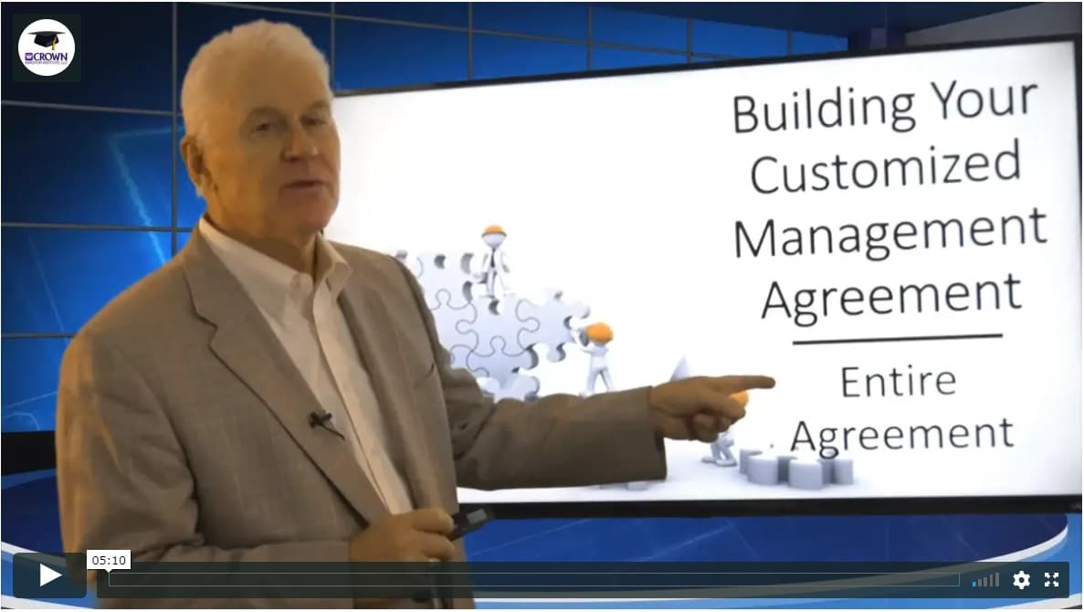 Building a Customized Property Management Agreement Entire Agreement Clause