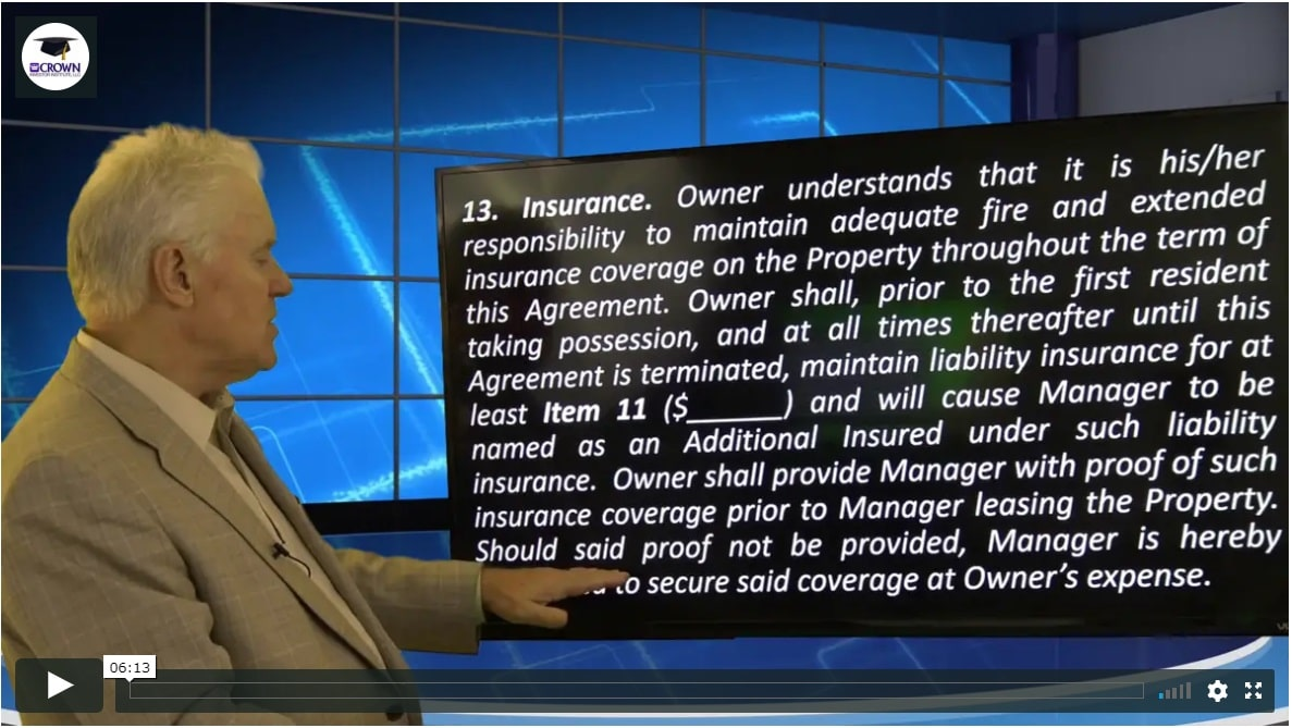 Building a Customized Property Management Agreement Insurance getting the owner to add you as additional insured