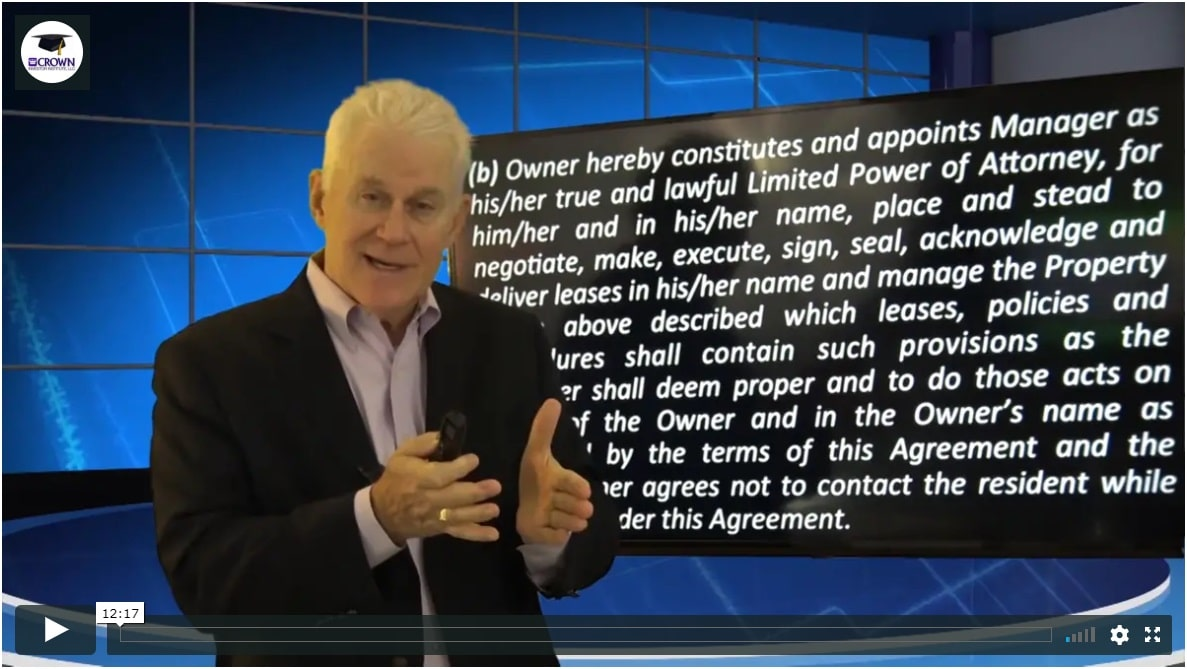 Building a Customized Property Management Agreement Limited Power of Attorney
