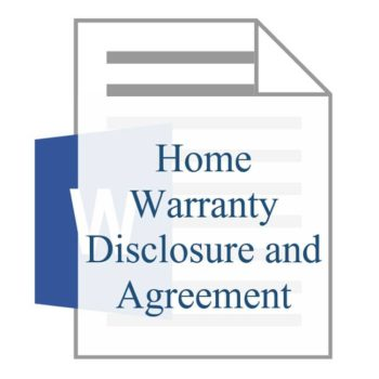 Home Warranty Disclosure and Agreement