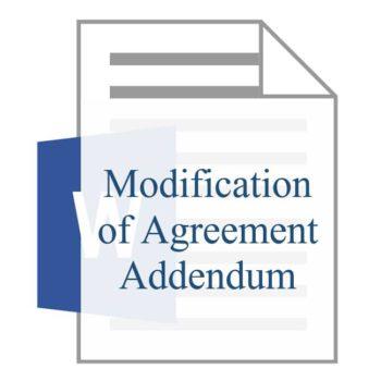 Modification of Agreement Addendum
