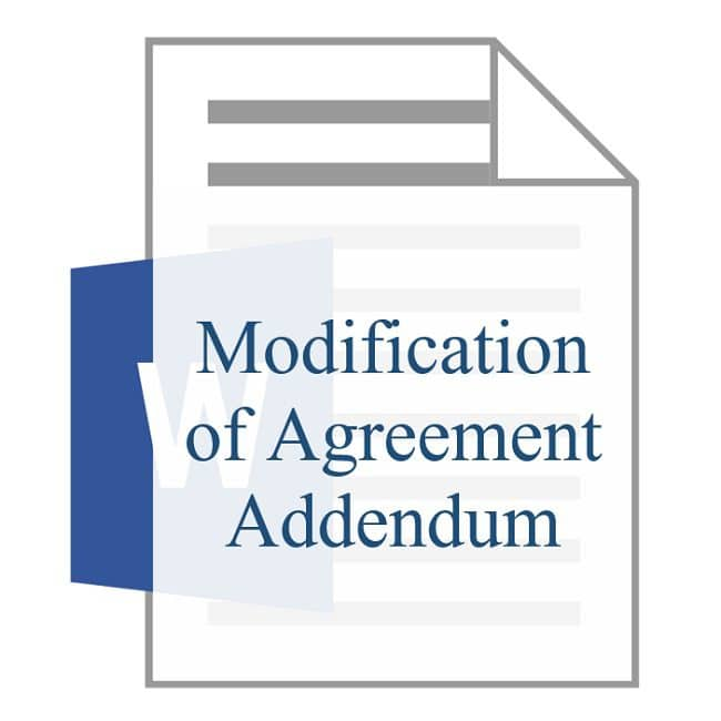 Modification of Agreement Addendum