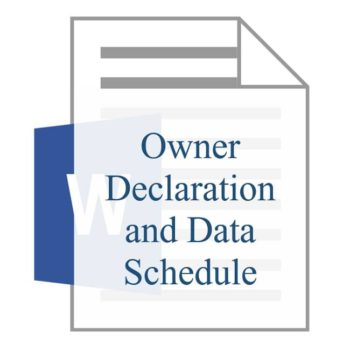 Owner Declaration and Data Schedule