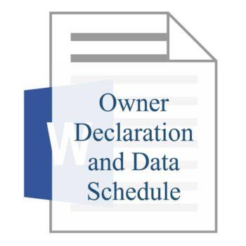Owner Declaration and Data Schedule