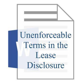 Unenforceable Terms in the Lease Disclosure