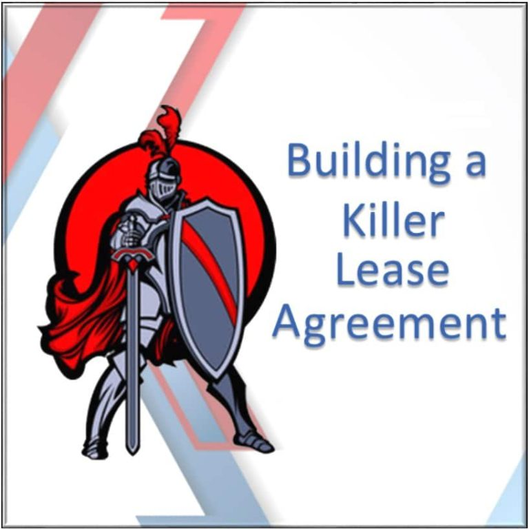 Building a Killer Lease Agreement