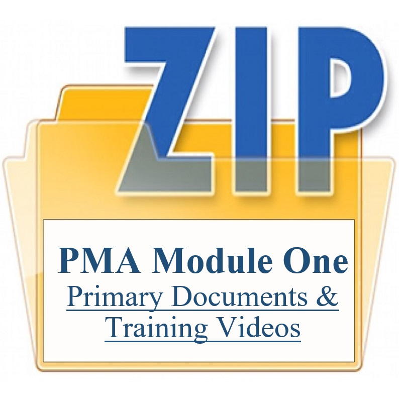 PMA Module One Primary Documents & Training Videos Training Property Managers