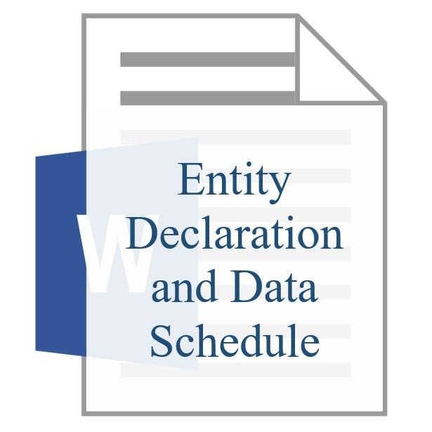 Entity Declaration and Data Schedule