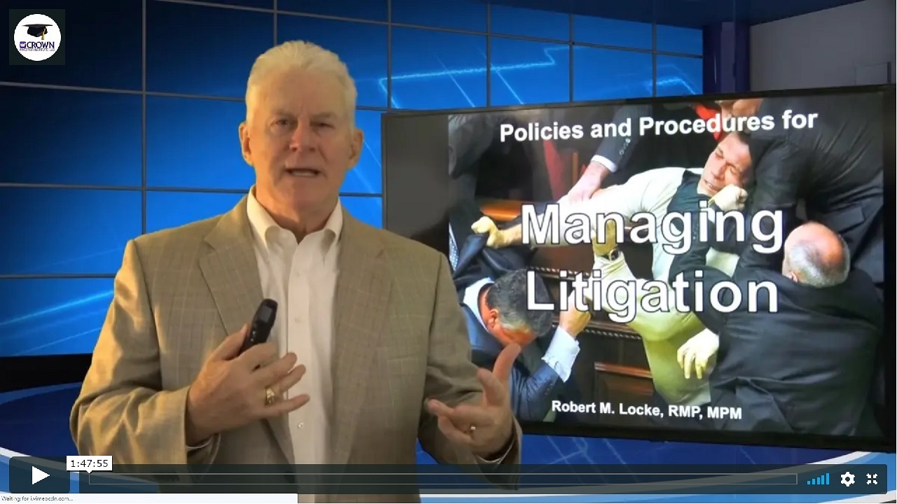 Policies and Procedures for Managing Litigation from NARPM Orlando 2017