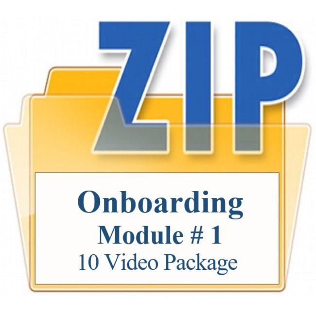 Onboarding Module # 1 Ten Video Package Training Property Managers