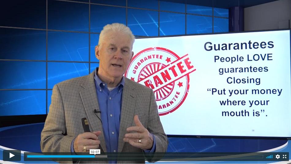 Onboarding Video 08 Guarantees people always love guarantees