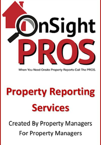 OnSight Pros Property Reporting Services Training Property Managers with products
